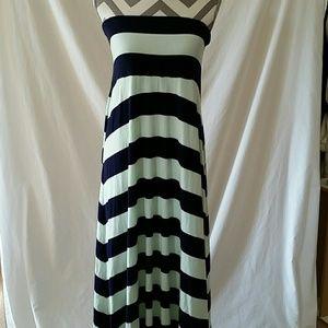 Gap women's xlg strapless maxi dress skirt
